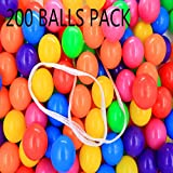 Pit Balls Little Tikes Ball Pit Crush Proof Plstic Balls Pit 7 Color 200 Packs Playballs in Bulks for Kids Babies