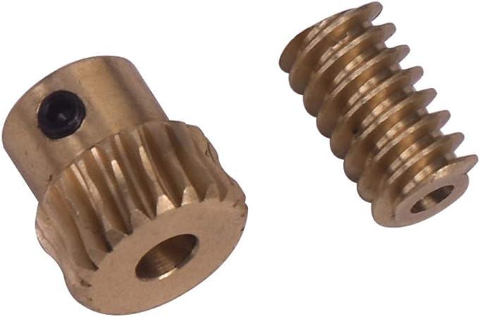 50PCS Worm 6*6 worm reduction gear DIY model gear 0.5 modulus 1mm hole 1A