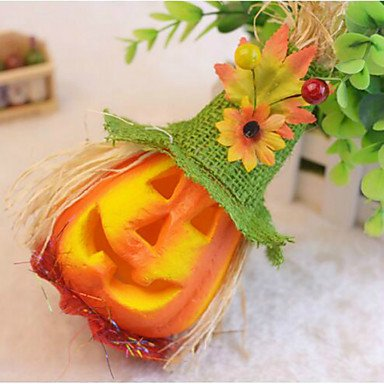 Halloween Scarecrow Pumpkin Bubble Decorated Activity Scene Props Children Flash Toys Color Random ()
