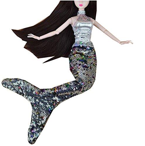 George Jimmy Juego de 2 Hermosas Sirenas exquisitas Trajes Vestido de muñeca para 11,81 Pulgadas de muñeca Azul