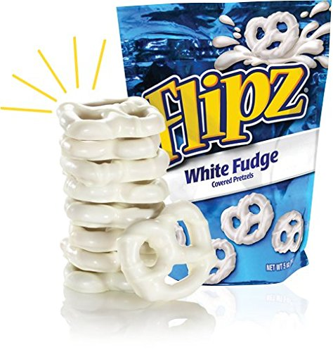 Flipz White Fudge Pretzels, 5oz (Pack of
