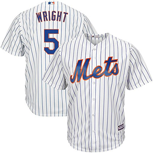 David Wright New York Mets #5 MLB Youth Cool Base Home Jersey White (Youth Medium 10/12) (Jersey Wright David)