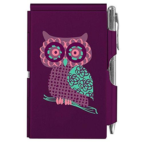 Wellspring Flip Note, Purple Owl(FlipNote-PurpleOwl)