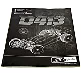 Hot Bodies D413 HB HPI OWNERS INSTRUCTION MANUAL & PARTS LIST Exploded View