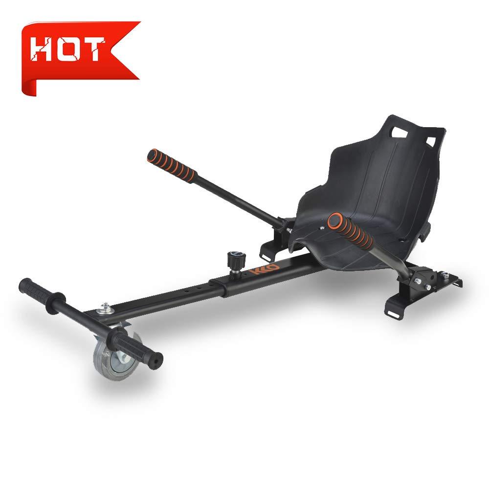 Adjustable Hoverkart Go cart Hoverboard Accessories for Kids Fits 6.5''/8''/10'' (Black)
