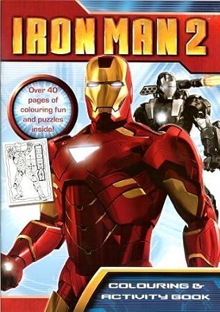 Marvel Heroes Iron Man 2 Livre De Coloriage Et Activites Amazon Fr Jeux Et Jouets