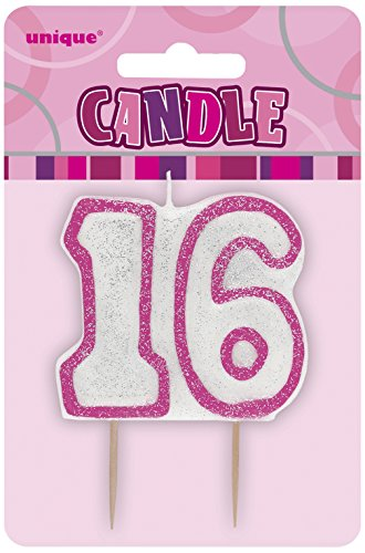 Unique Party Pink Number Candle - 16 -