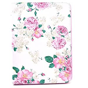 New Case for Samsung Galaxy Tab 3 8.0 inch T310 Cute Colorful Flip PU Leather Soft TPU Cover With Stand Skin-Flower(Gift Cartoon Sticker 2 PCS)