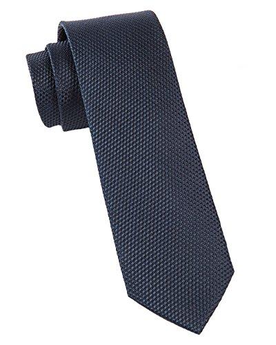The Tie Bar 100% Silk Midnight Navy Grenafaux Solid Textured 2 In Tie