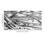xjarrogantqibi 60x120cm Anti-Slip Abstract Black and White Print Floor Mat Sticker Home Decor