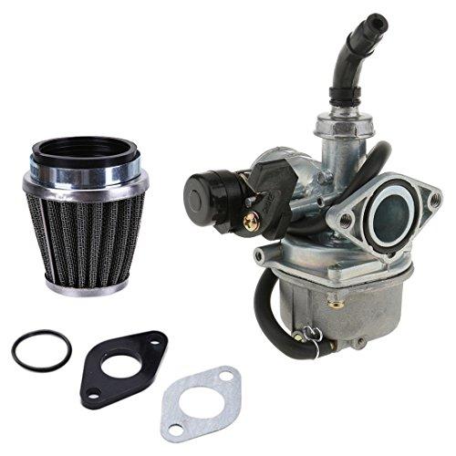 PZ19 19mm ATV Carburetor Carb with 35mm Air Filter Intake Gaskets for 50cc 70cc 80cc 90cc 110cc 125cc ATV Dirt Pit Bike Go Kart Pocket Bike Taotao Honda CRF