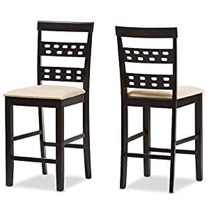 Amazon Com Baxton Studio Seville Counter Stool Set Of 2