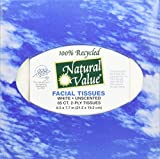 Natural Value Recycled Boutique Facial Tissues, White, (Pack of 36)