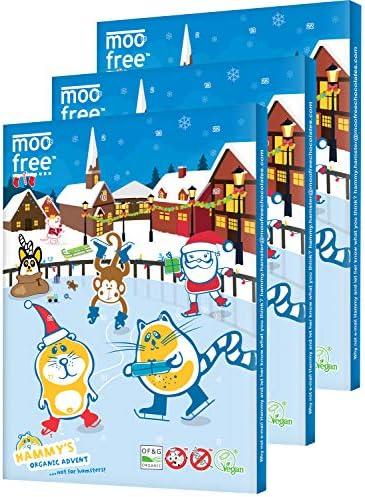 [해외]Moo Free Dairy Free Chocolate Advent Calendar 100g (Pack of 3) / Moo Free Dairy Free Chocolate Advent Calendar 100g (Pack of 3)