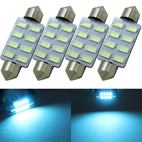 4pc blue led car interior lights - 9