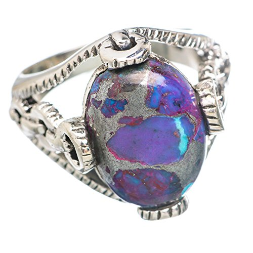 Ana Silver Co Purple Copper Composite Turquoise 925 Sterling Silver Ring Size 8 RING764739 (Ana Silver Co Purple compare prices)