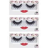 LashXO Lashes- Lucky Lola-3pack Premium Quality False Eyelashes- Compare to Shu Uemura, MAC, Make Up For Ever, and House of Lashes