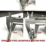 Stainless Steel Adjustable Front Bumper Lip Spoiler Strut Rods 8-10.6 Inch