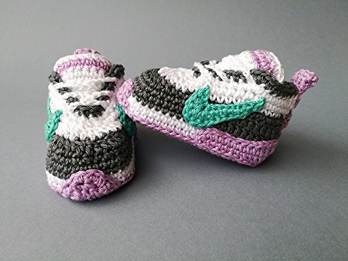 reputable site 8a2f9 9617c Crochet Pattern baby Nike, baby sneakers by  chelaru, paula