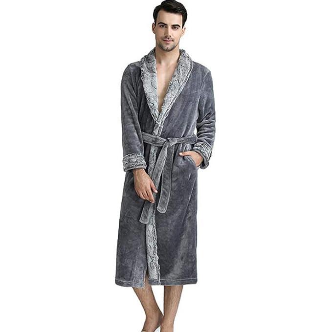 BOYANN Hombre Franela Albornoces Batas y Kimonos Pijamas Ropa de Dormir Cadeau de Noël: Amazon.es: Ropa y accesorios
