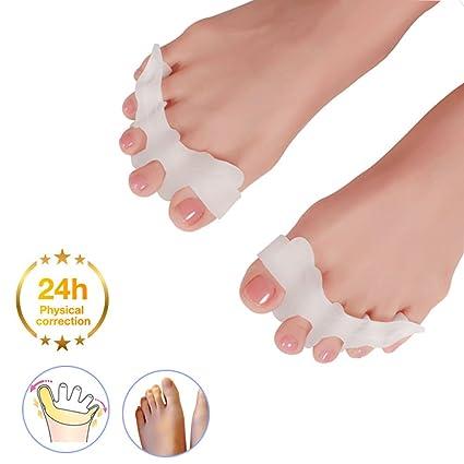Separador de dedos del pie de gel, corrector de juanetes, enderezador de dedos,