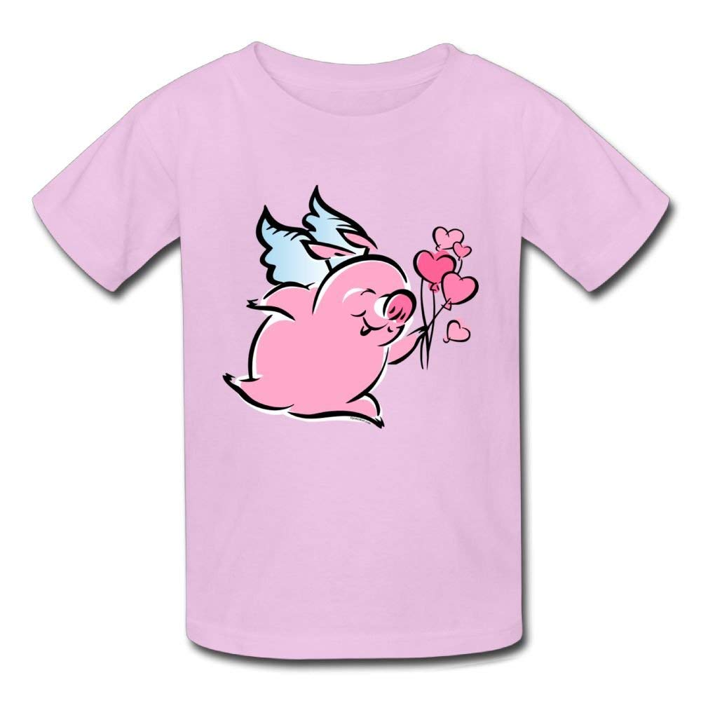 Short-Sleeves Tee Heart Balloon Pig Wings Birthday Day Baby Boy Toddlers