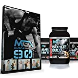 MGX 90 Pro 90 Day Muscle Building Fitness Program, Female + MGX Insane Pre-Workout Energy & Endurances booster 438 Grams Watermelon + Isolate Build 2lb Chocolate + Amino Matrix 350gr Strawberry Kiwi