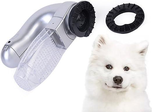 MUJING Perro Gato Mascota Aspiradora Eléctrica Aspiradora Limpiador De Piel Desmontador Trimmer Cepillo Peine: Amazon.es: Hogar