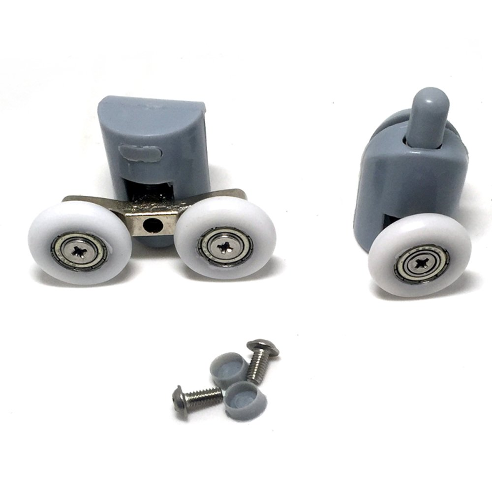 8Pcs Cuscinetto Doccia, rulli rullo ruote cuscinetti rotelline per la porta doccia cabina Home Bagno fai da te Parti di ricambio 23mm