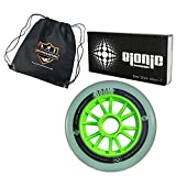Atom Boom Magic Inline Wheels 8-Pack with Bionic Abec-7 Bearings and Bonus Devaskation Drawstring Bag (XFirm, 110mm)