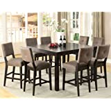 Bay Side Espresso Finish 9-Piece Counter Height Dining Set