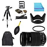 Basic Shooters Package for Canon Rebel SL1: Includes 1x Canon EF-S 55-250mm f/4.0-5.6 IS II Telephoto Zoom Lens, 1x Dust Cleaner Blower, 1x Ultra High Speed 32GB SDHC Memory Card, 1x USB SD Card Reader, 1x Hard Tulip Lens Hood, 1x 72'' Professional Tripod,