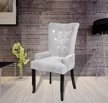 Amazon.com: Nueva tapicería de terciopelo gris con ...
