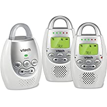 VTech DM221-2 Audio Baby Monitor with up to 1,000 ft of Range, Vibrating Sound-Alert, Talk Back Intercom, Night Light Loop & Two Parent Units