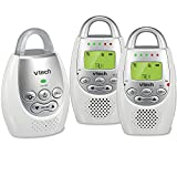 #10: VTech DM221-2 Audio Baby Monitor with up to 1,000 ft of Range, Vibrating Sound-Alert, Talk Back Intercom, Night Light Loop & Two Parent Units