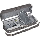 JSI Adjustable 1009 Viola Case with Black Exterior and Gray Velour Interior made by Bobelock
