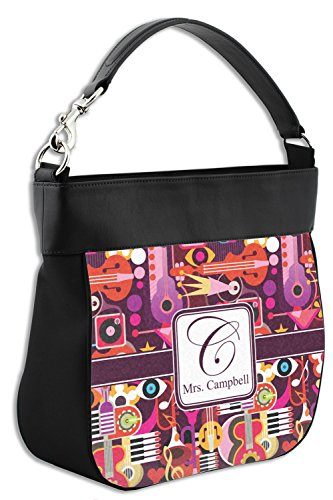Leather w Back Trim Hobo Abstract Front Purse Personalized Genuine amp; Music X1tRtx4qw