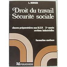 Droit du travail, Sécurité sociale
