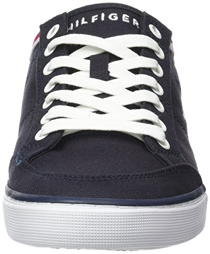 Tommy Hilfiger Kjerne Bedrifts Tekstil Sneaker - Midnight Blue