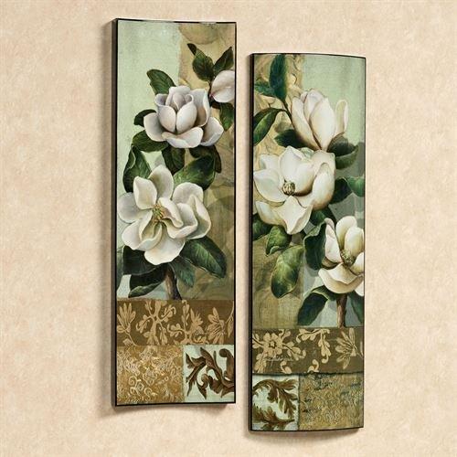 Elegant Magnolia - Touch of Class Magnolia Elegante II Wall Art Set Cypress Set of Two