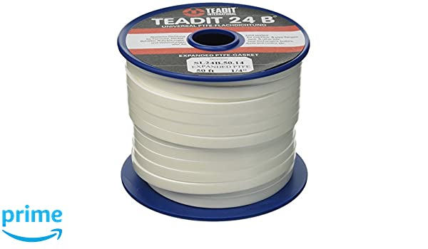 Sur-Seal 1500.25050 1500/Teadit 24B White PTFE Joint Sealant for Applications in Steel, Glass Lined, PVC and Fiber Glass Pipe Flanges, Fume Ducts, ...