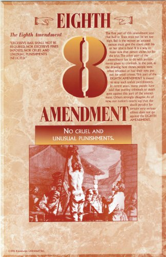 Eighth Amendment- Bill of Rights Poster