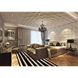 Contempo Living 3D-Space 3D Wall Panel 27-Square White by Contempo Living