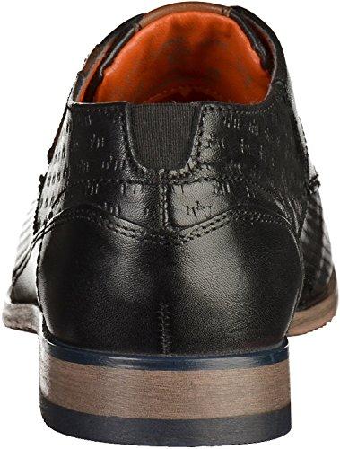 Bugatti Herren 312105021010 Derby Schwarz(Schwarz/Braun)
