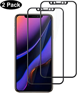 Compatible For iPhone 11 Screen Protector/iPhone XR Screen protector, Full Coverage No Bubble Scratch proof 9 H Hard Tempered Glass for iPhone 11 6.1 inch/iPhone XR 2018 [2-Packs]