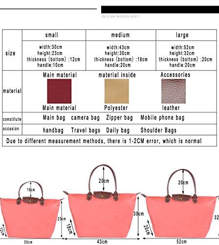 Bags Bag Shoulder Bags Casual Women's Nylon Shopping Ladies Stylish Waterproof Bag Fold Beach Handbag Red2 Zipper Tote ZhengYue Travel Bag Fold Messenger Af4nWaa