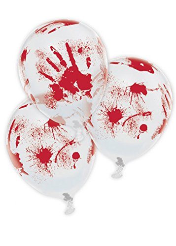 Bloody Hand Print Halloween Party Balloons (Zombie Stuff For Halloween)