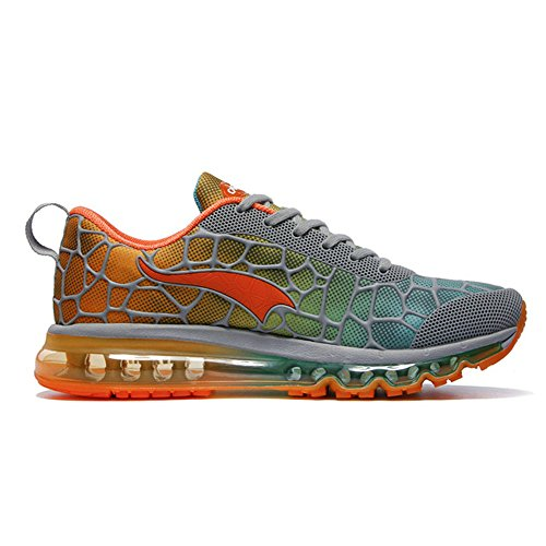 outlet latest collections OneMix 2017 2018 Hot Sale Fashion Men's and Women's Air Cushion Trainer Running Shoes GreyOrangeRed shop cheap online real sale online for sale cheap price RRcLB