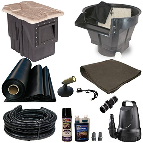 Half Off Ponds' MDP0 - 20 ft x 25 ft Medium PondBuilder Pond Kit w/ 4,100 GPH Pump, PondBuilder 20 Inch Waterfall, & - 25' Liner Kit