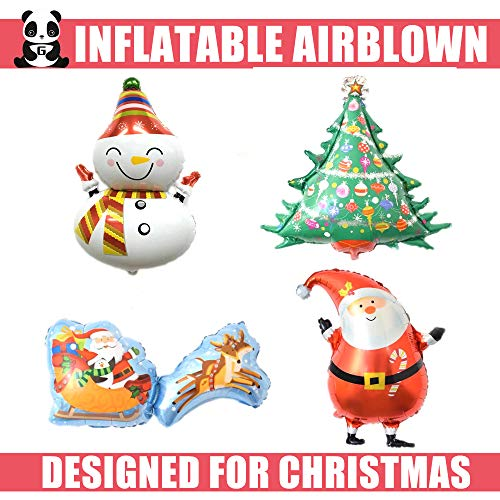 [4 Package] Inflatable, Inflatable Christmas Decorations, Christmas Airblown Inflatable, Inflatable Christmas Tree, Inflatable Santa Claus, Inflatable Christmas Deer Cart [by Greatmast